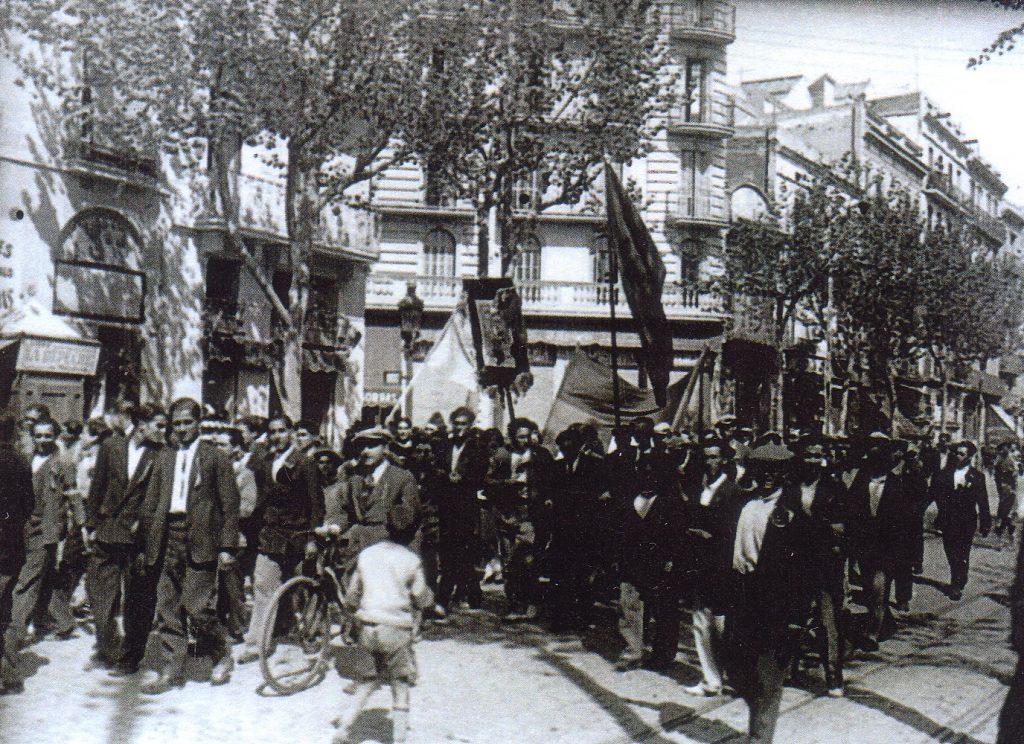 Proclamació de la república a Hostafrancs. 1931. Arxiu Històric de Sants-Montjuïc.